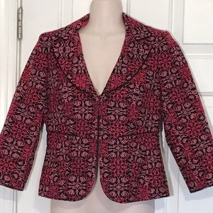 Exquisite embroidered 3/4 sleeve jacket